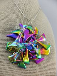fused glass jewelry dichroic