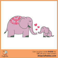 Which one of them is your favorite? Free Elephants Svg Cut File Craftables