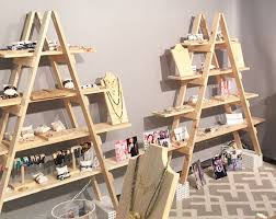 Craft Fair Display Stands Wooden Ladder Craft Fair Display 100 foot Ladder Shelf 2