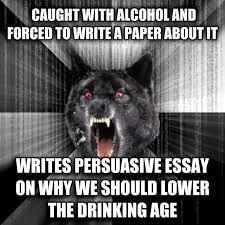 drinking age argument essay