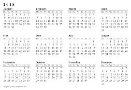 Blank Calendar 2018 2018 Calendar Printable