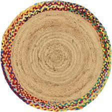 main unique loom 3 3 x 3 3 braided jute round rug photo