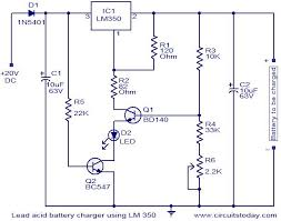 battery charger using lm350 electronic circuits and diagram 24v lead acid battery charger circuit diagram at 24 Volt Battery Charger Diagram