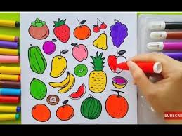 Small Picture Vegetables Coloring Game and Learning Fruits for Children Funny