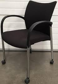 chair on wheels. black senator trillipse t117a office meeting room/stacking chair on wheels s