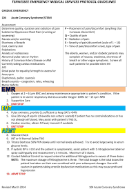 Tennessee Emergency Medical Services Protocol Guidelines