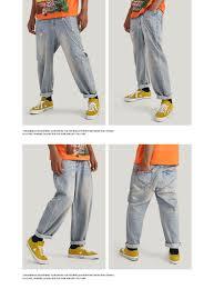 Light Blue Jeans Streetwear Details About Aw New Streetwear Jean Pants Straight Light Blue Jeans Men Loose Denim Jeans