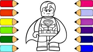 You can download superman lego coloring page for free at coloringonly.com. Lego Superman Coloring Pages For Kids Learn Colors For Kids Youtube