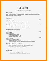 Simple Sample Resume Resume Example Simple Resumes Leterformat Free Sample