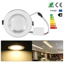 Us 6 99 30 Off Ultra Slim Dimmable 3w 5w Spot Led White Downlight Flat Lens Recessed Light Cool Warm White Led Lights For Home Ac 110v 220v In