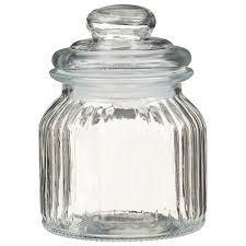 337374 decorative glass storage jar