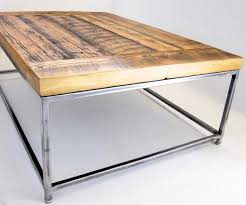 gallery of metal frame coffee table with wood top