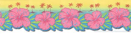 Flower Wall Paper Border Hawaiian Flower Wallpaper Border Flowers Healthy
