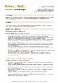 technical sales resumes account manager resume samples qwikresume