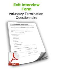 Exit Interview Form #free #hr #tool #discipline #termination | Free ...