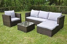 bigzzia rattan modular corner sofa set
