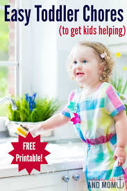 Free Printable Toddler Chore Chart Template