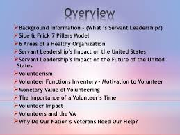 exploring servant leadership behaviors in volunteer led community ser   servant leadership behaviors in volunteer led community service projects benefiting veterans 2