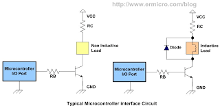 using transistor as a switch ermicroblog the above diagram show a typical microcontroller interface circuit