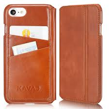 kavaj iphone 8 iphone 7 case leather dallas cognac brown slim fit genuine leather iphone 8 wallet case leather flip case folio with business card on
