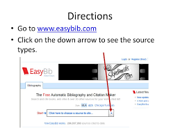 Ppt Using Easybib To Cite Sources Powerpoint Presentation Id1845066