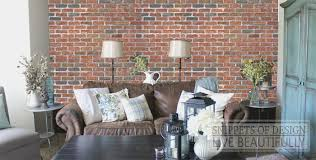 living room worn example diy brick snippets of design