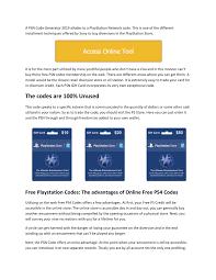 pdf free psn card codes unlimited play generator 2019