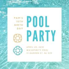 Pool Party Template Customize Invitation Templates Online