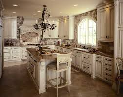classic kitchen cabinet drawer and wall with antique iron chandelier