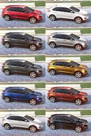 2017 Ford Edge Color Chart 2015 Ford Edge Visualizer All 10 Colors From Every Angle
