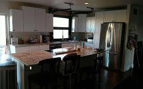 glass garage door in kitchen.  Glass Kitchen Part Door Living Room Glass Garage Doors On In