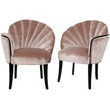 art moderne furniture. pair of 1920u0027s art deco shell back boudoir chairs moderne furniture i