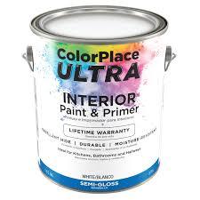 Color Place Ultra Semi Gloss Interior White Paint Primer 1 Gal Walmart Com