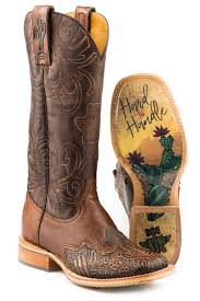 Tin Haul Womens Cactooled Hard To Handle Sole Cowboy Boots