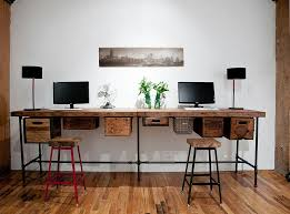 work desks home office. Wood Desks Home Office Pipes Reclaimed And Vintage Crates Used Create A  Lovely Diy Work Desk