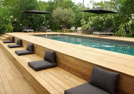 Backyard Deck Design Simple Beauty On A Budget Above Ground Pool Ideas Freshome