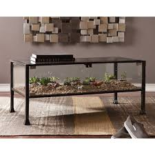 ... Total Fab Glass Top Display Case Coffee Tables All Metal Table 91wj Q  All Metal Coffee