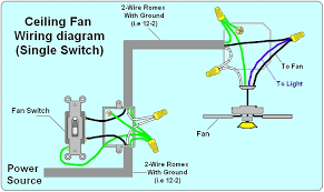 ceiling fans with light wiring diagram
