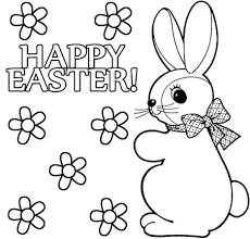 Bunny Easter Coloring Pages And Print For Adult