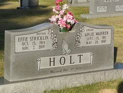 Effie Elizabeth Stricklin Holt (1914-2005) - Find A Grave Memorial