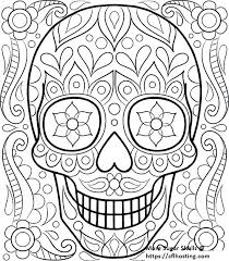 Sugar Skull Coloring Pages For Adults Coloring Sugar Skulls Coloring