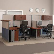 small office workstations. bush officeinanhour melamine ushaped double workstation computer desk with reception hayneedle small office workstations l