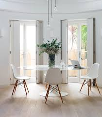 knoll eames chair. Beautiful Combination - White Knoll Elliptical Tulip Table And Eames DSW Chairs Source: Livingetc Chair I