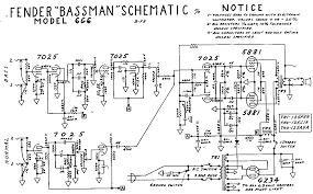 fender blonde bassman tube amp schematic model 6g6 guitar fender blonde bassman tube amp schematic model