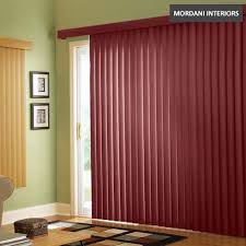 maroon vertical blinds mordani interiors mumbai