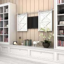 2018 stainless steel wooden cabinet sliding barn door hardware mini barn door track kit for tv door track system from att hardware 63 32 dhgate com