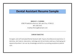 dental assisting resumes registered dental assistant resume samples  template word sample objective dental assistant resume dental