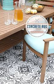 newest outdoor rug on concrete patio of diy stenciled concrete rug outside
