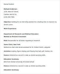dental student resumes resume for dental students plks tk