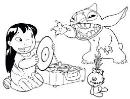 Disney Stitch Coloring Pages Free Coloring Sheets